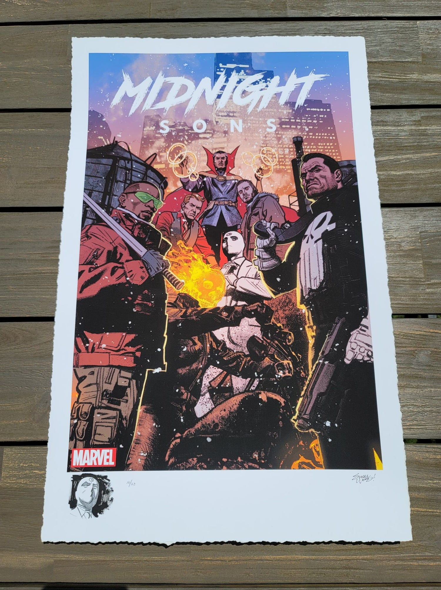 """Image of MOON KNIGHT #10 : Marvel """"Midnight Sons"""" Limited REMARQUE EDITION Giclee Print By Greg Smallwood"""