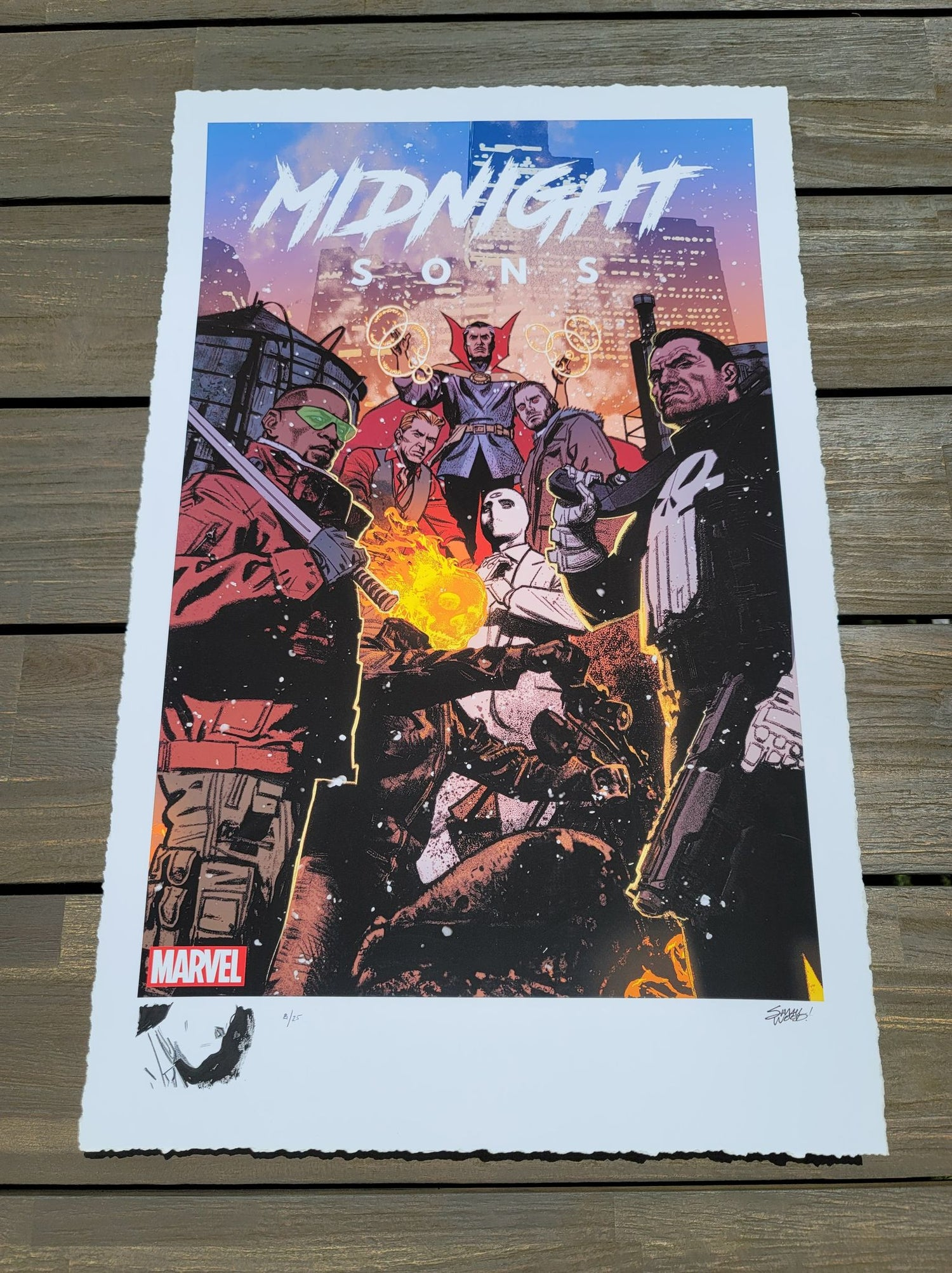 "Image of MOON KNIGHT #8 : Marvel ""Midnight Sons"" Limited REMARQUE EDITION Giclee Print By Greg Smallwood"