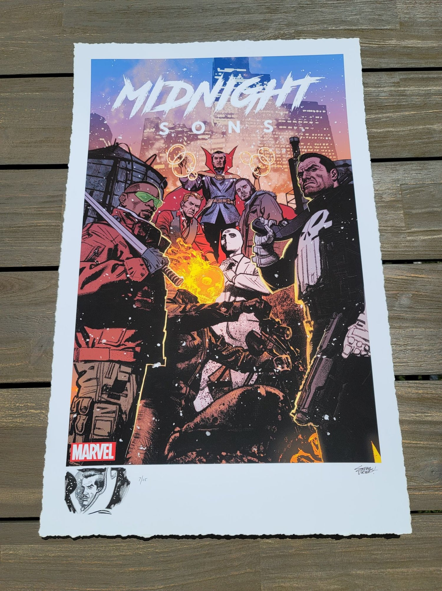 """Image of DOCTOR STRANGE #7 : Marvel """"Midnight Sons"""" Limited REMARQUE EDITION Giclee Print By Greg Smallwood"""