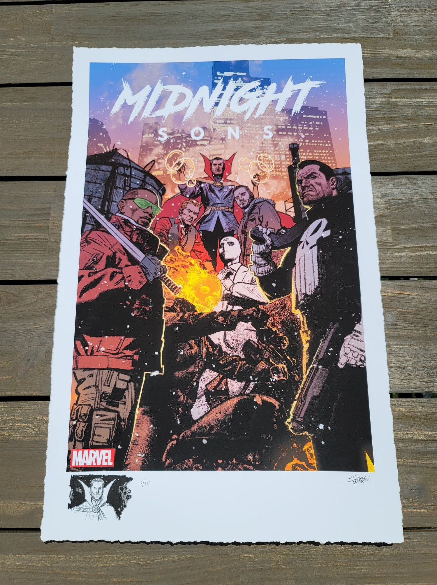 "Image of DOCTOR STRANGE #6 : Marvel ""Midnight Sons"" Limited REMARQUE EDITION Giclee Print By Greg Smallwood"