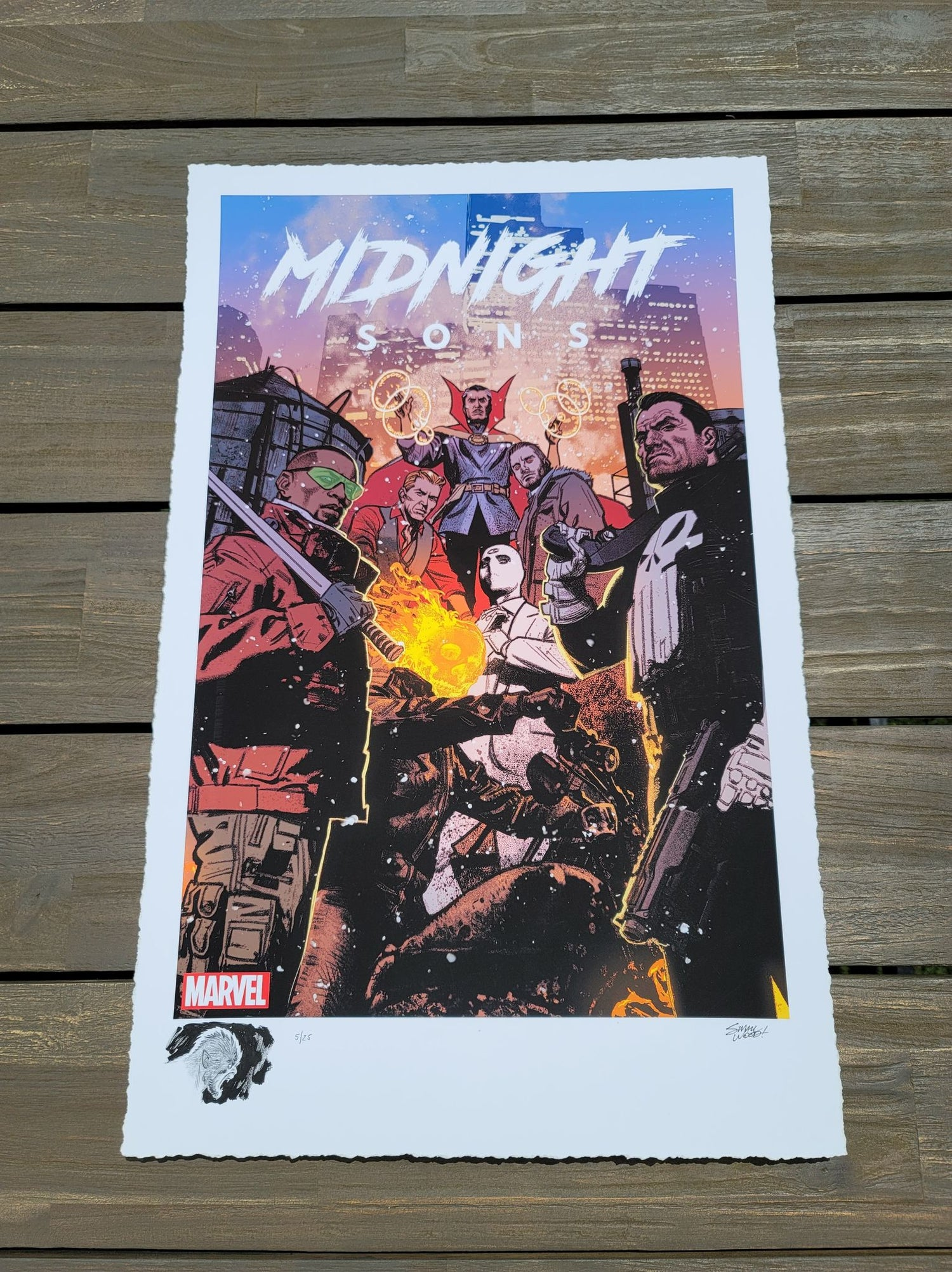 """Image of WEREWOLF BY NIGHT #5 : Marvel """"Midnight Sons"""" Limited REMARQUE EDITION  Print By Greg Smallwood"""