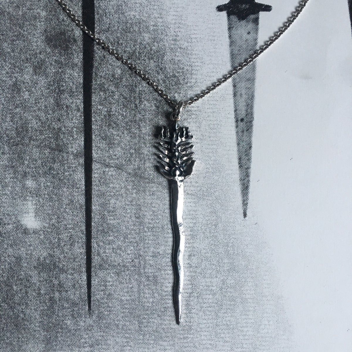 Image of IMPOSSIBLE FLAMBOYANT DAGGER  - NECKLACE