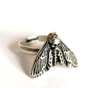 Image of Antiqued Death's-Head Moth Ring