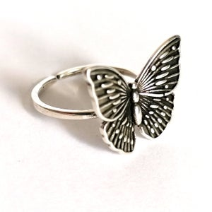 Image of Antiqued Butterfly Ring