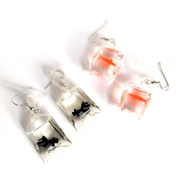 Image of Fairground Goldfish Hook Earrings