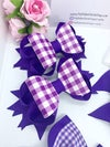 8 piece gingham hair bow set