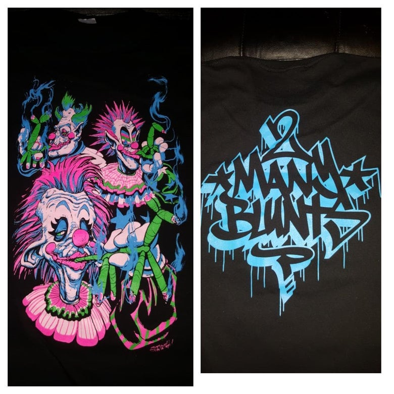 Image of 2 MANY BLUNTS KLOWNS T SHIRT (IN STOCK)