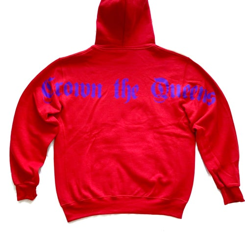 "Image of Crown The Queens ""Ten"" Hoodie Red"
