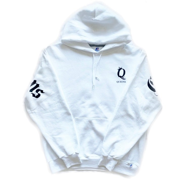 """Image of Crown the Queens """"Ten"""" Hoodie White"""