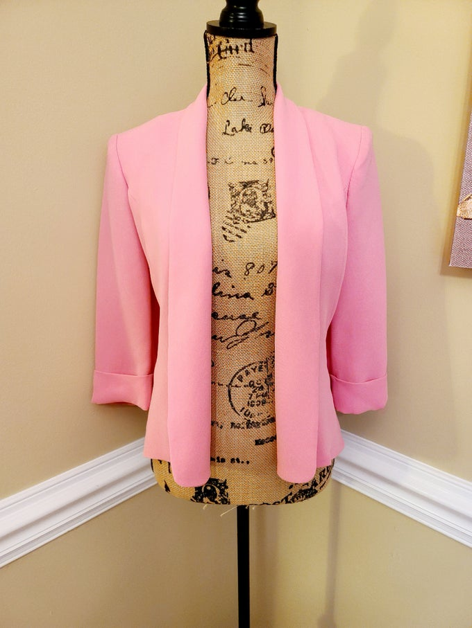 Image of Bubble Gum Pink Blazer