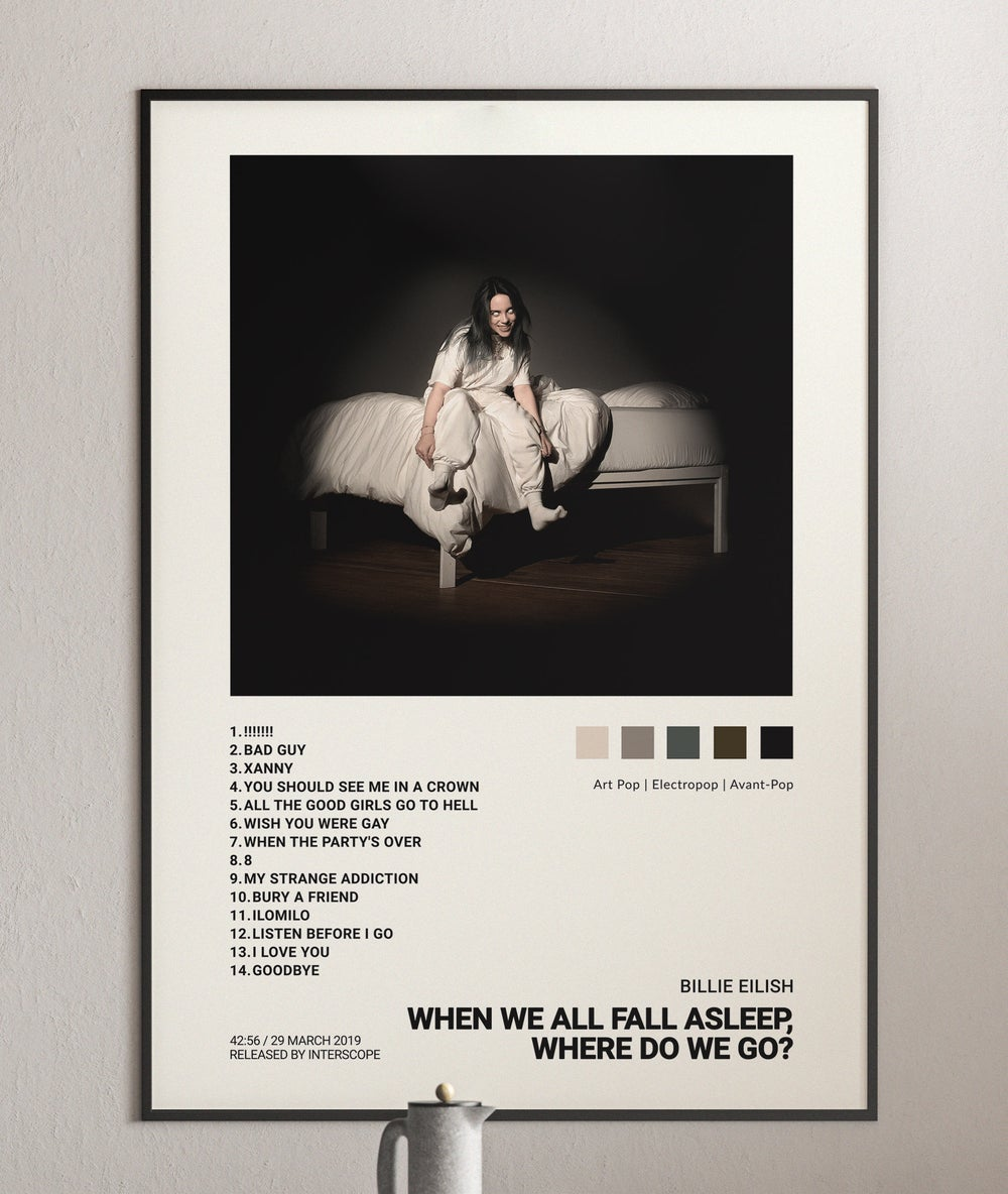 Billie Eilish - When We All Fall Asleep, Where Do We Go? Album Cover Poster Merch