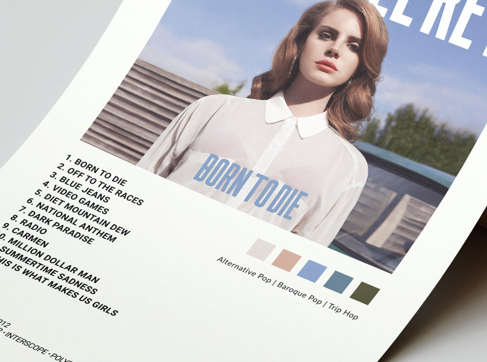 Lana Del Rey - Born to Die Album Cover Poster
