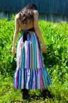 DARVA MAXI SKIRT indian striped silk