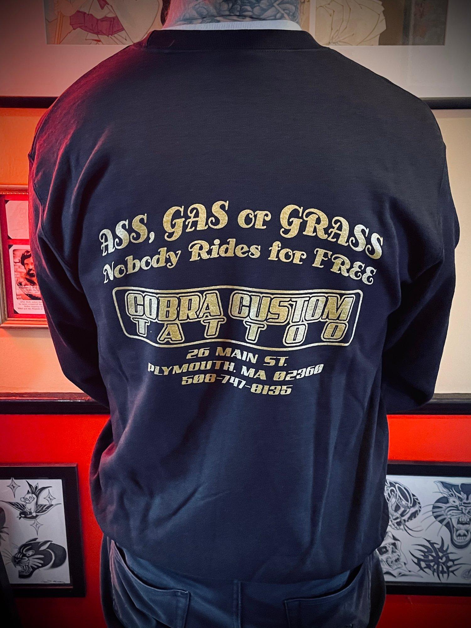 Image of Ass, Gas, or Grass Crew Neck Sweatshirt