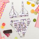 Image 3 of Print Hot Girl Summer Recycled high-waisted bikini