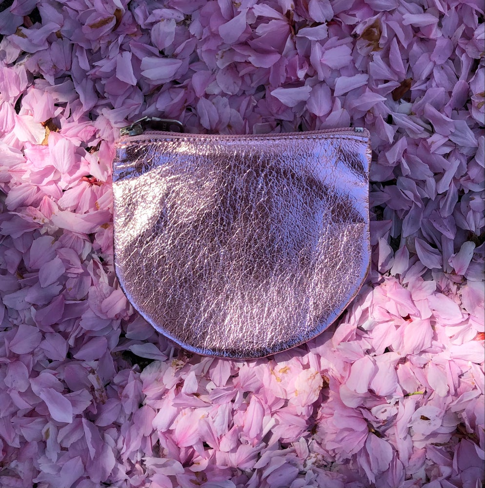 Image of Luna Zip Pouch - metallic cherry blossom