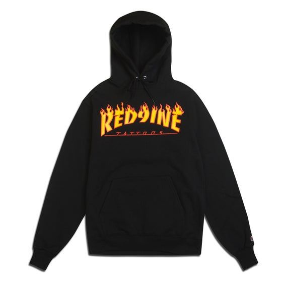 Image of RED9INE TATTOOS FLAMES HOODIE