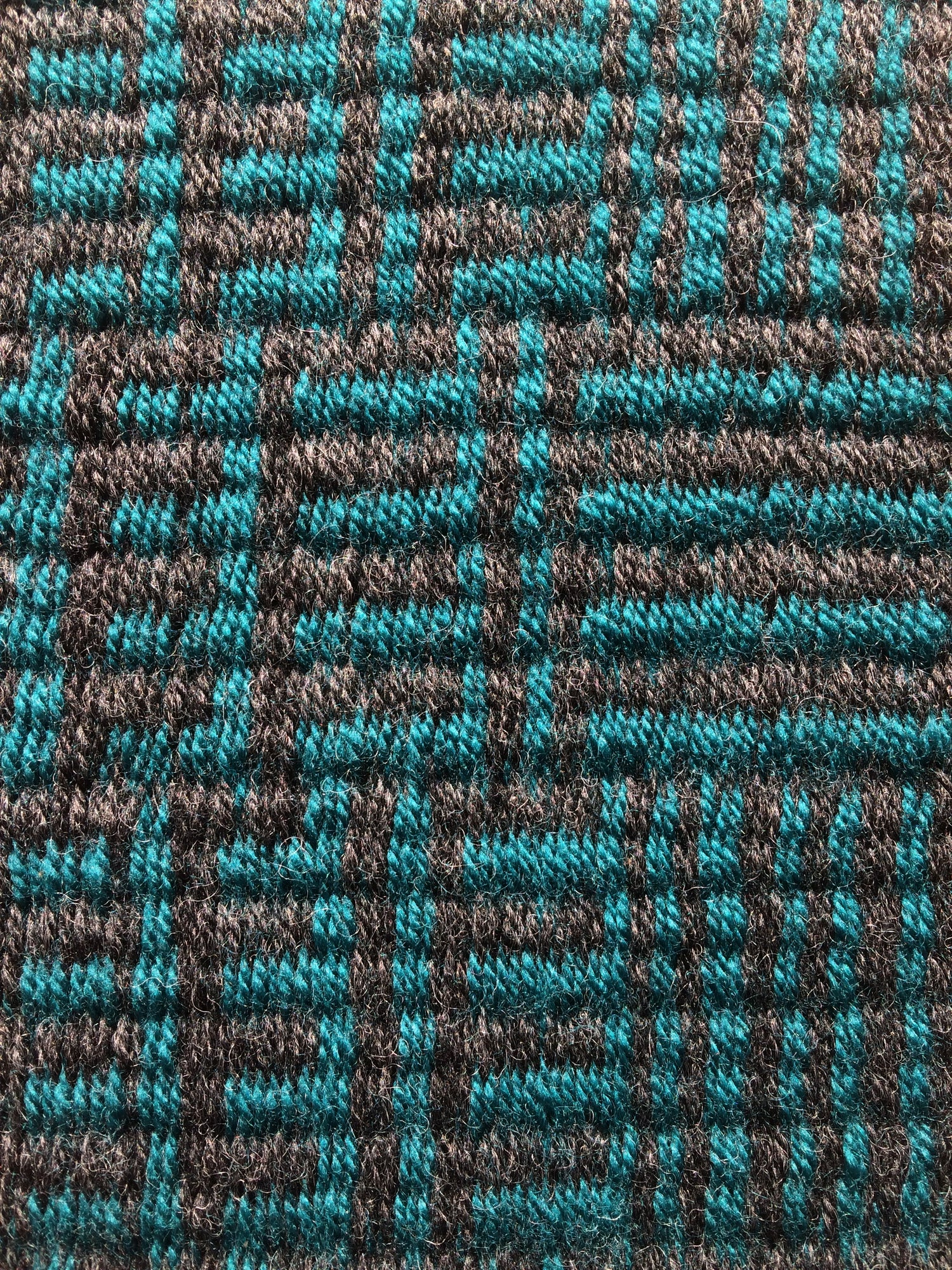 Image of Table Runner /•/ Interlock in Charcoal & Teal