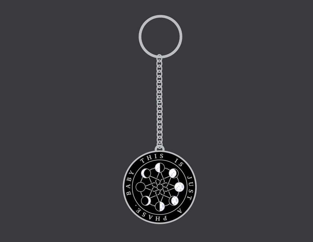 Just a Phase B+W Hard Enamel Keychain | PRE-ORDER