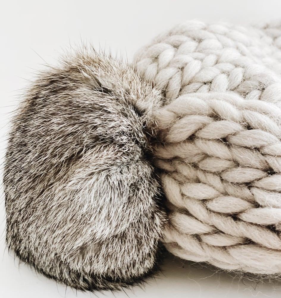 Image of Pale stone grey beanie