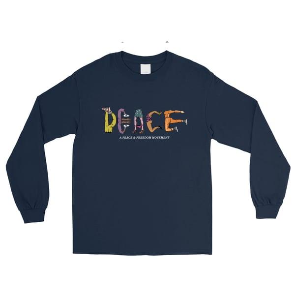 Image of Peace Blue long sleeve