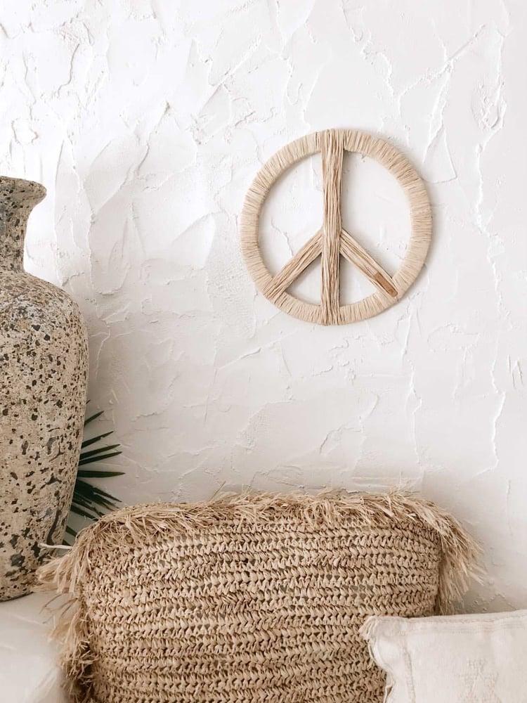 Image of Raffia Peace Sign