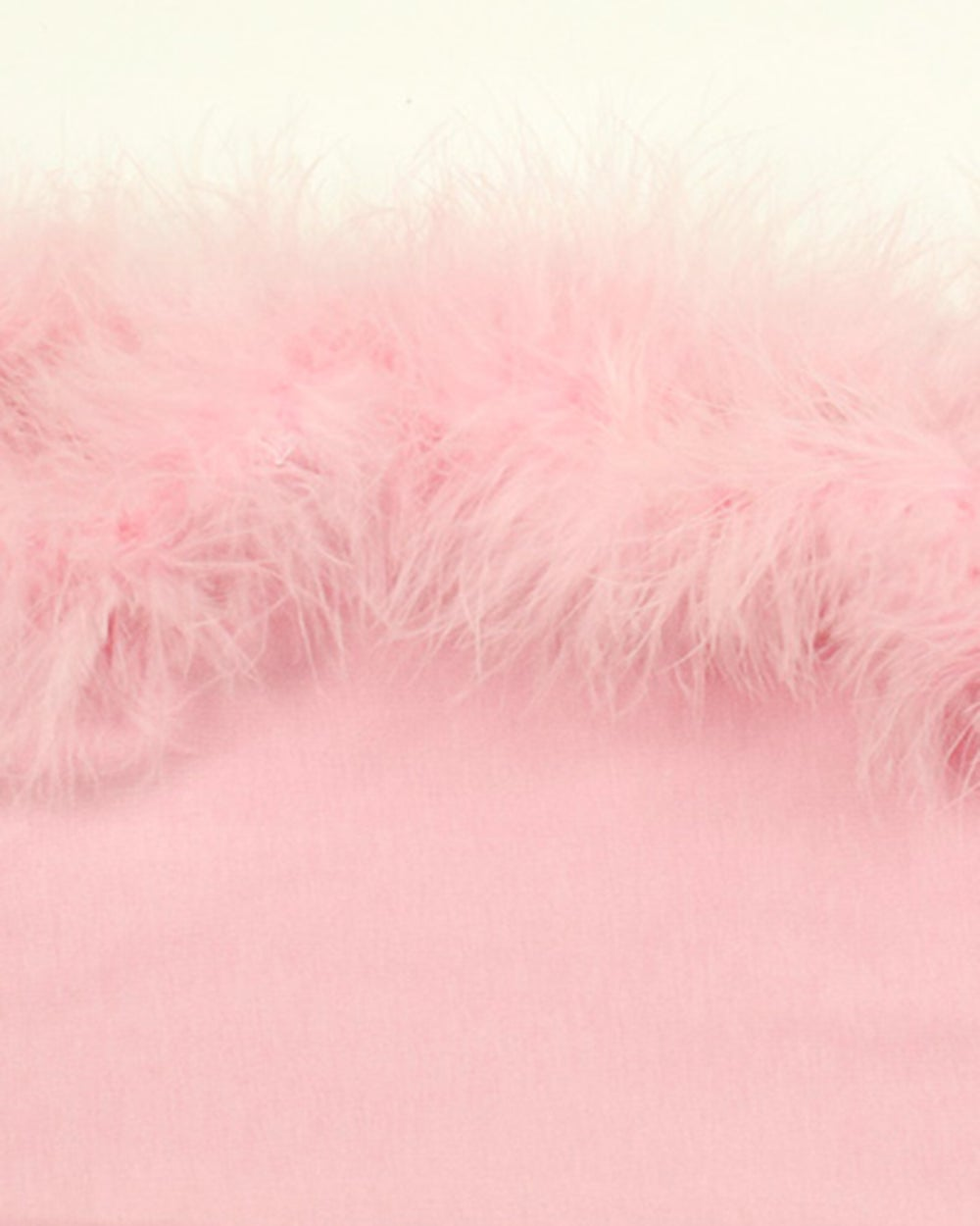Image of Pink Marabou Feather Bandeau Top