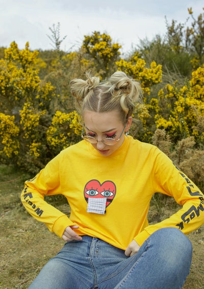 Image of 'Wear Your Mask' Long Sleeved T-Shirt YELLOW
