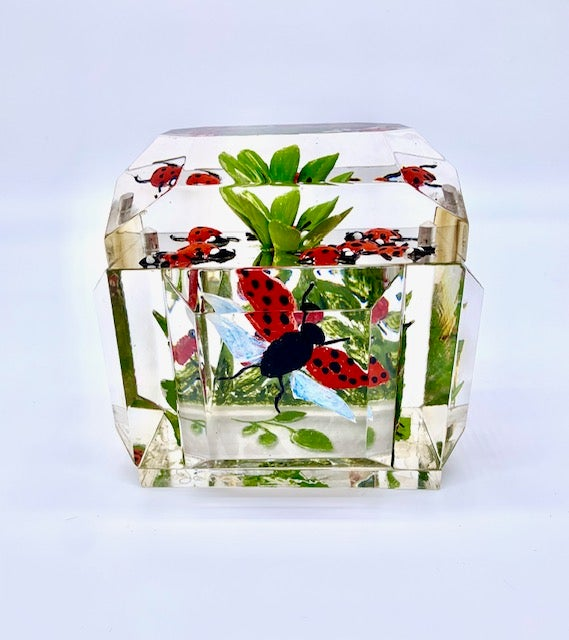 Image of Mini Victorian Box with Painted Ladybugs