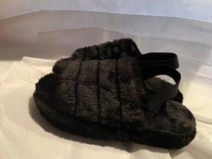 Image of Plush Sling Back Slippers