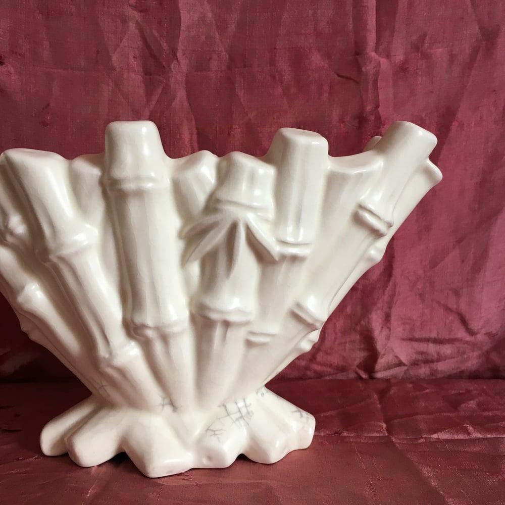 Image of Bamboo mantle vase