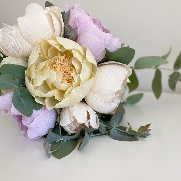 Image of Fiori di carta - bouquet di peonie