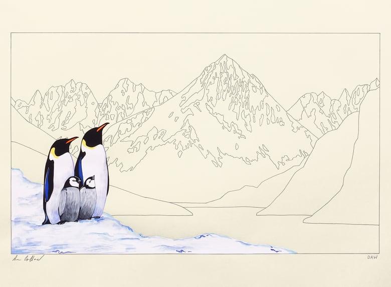Image of Emperor Penguins and Atalanta.