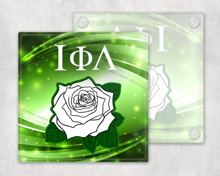 Image of Iota Phi Lambda Rose Coasters
