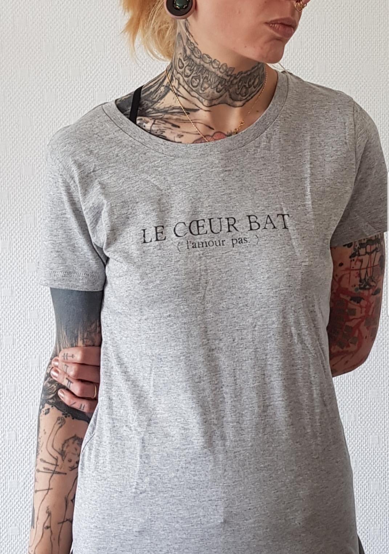 Image of T-Shirt gris The Simones X l'Androgynette - Le Coeur Bat