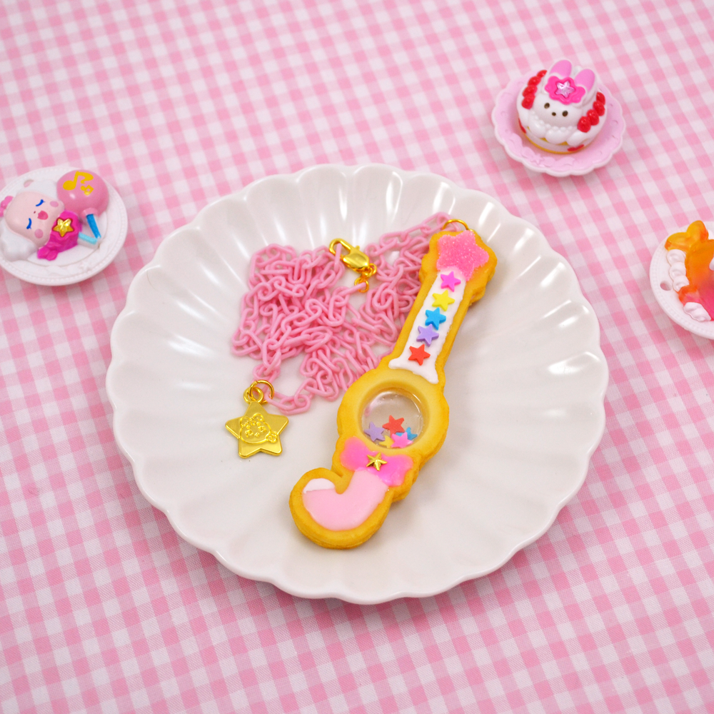 Candy Rod Cookie Necklace