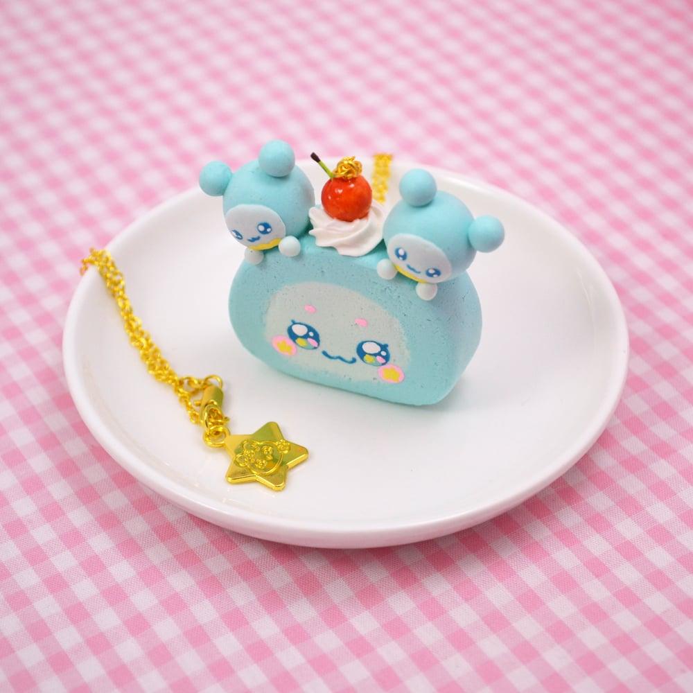 Gemini Fuwa Roll Cake Necklace