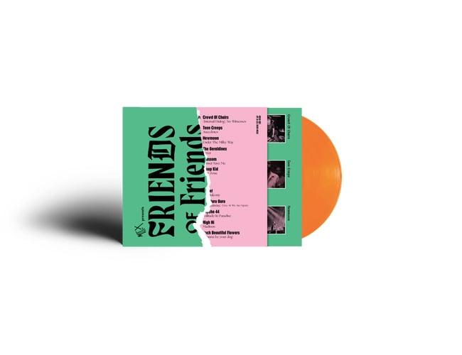 Image of MCLX Friends of Friends compilation vinyl