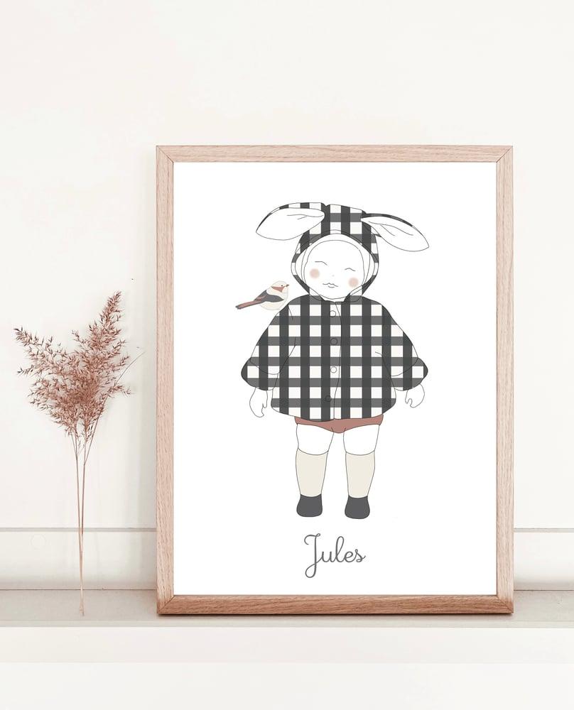 Image of Affiche Mon petit lapin - personnalisable