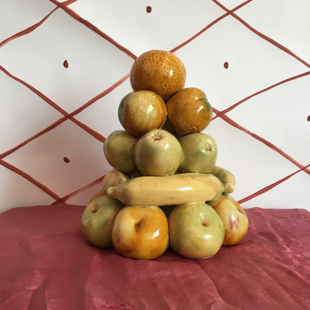 Image of Ceramic fruit stack