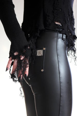 Image of MADE TO ORDER - KULTCHEN HEAVY ZIPPER FAUXLEATHER PANTS (Size XS - XL)