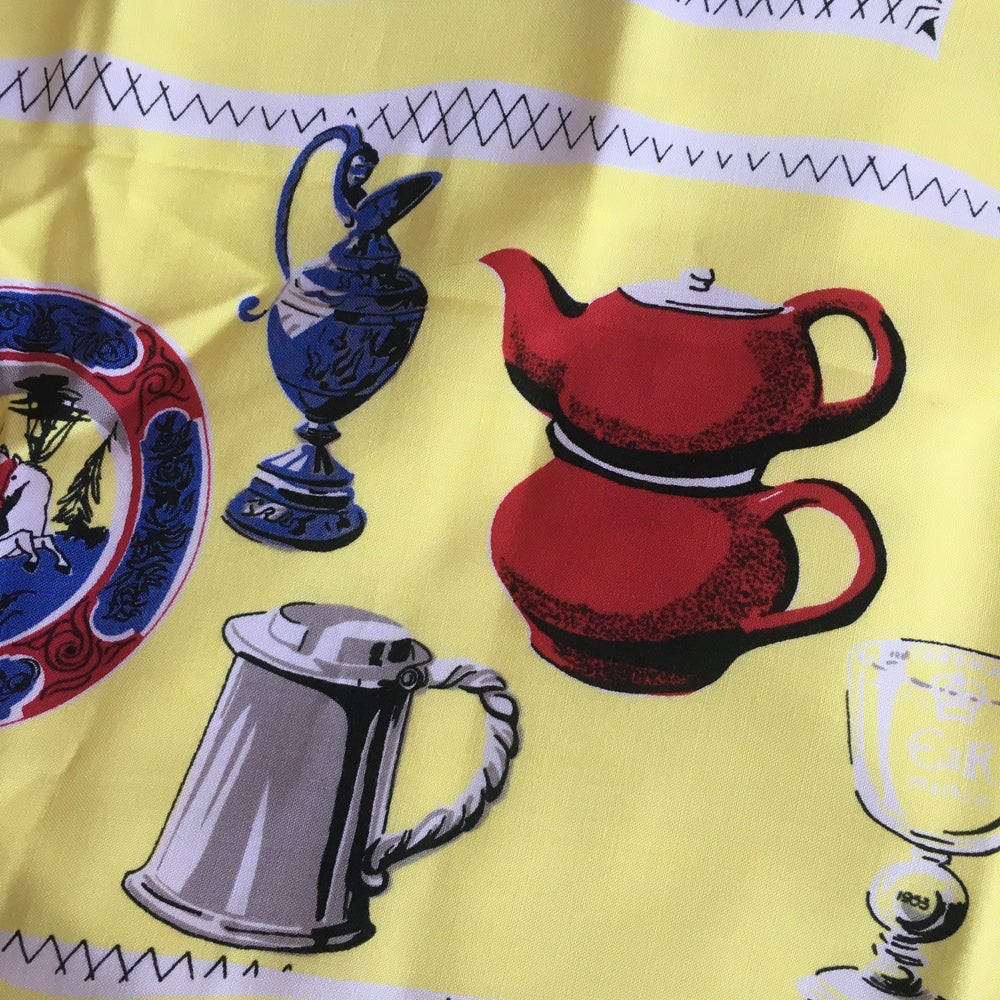 Image of 1950's Printed table cloth