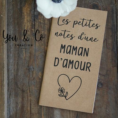 """Image of Carnet de notes """"maman d'amour"""""""
