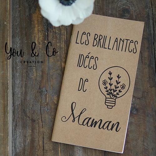 """Image of Carnet de notes """"Les idées brillantes de maman"""""""
