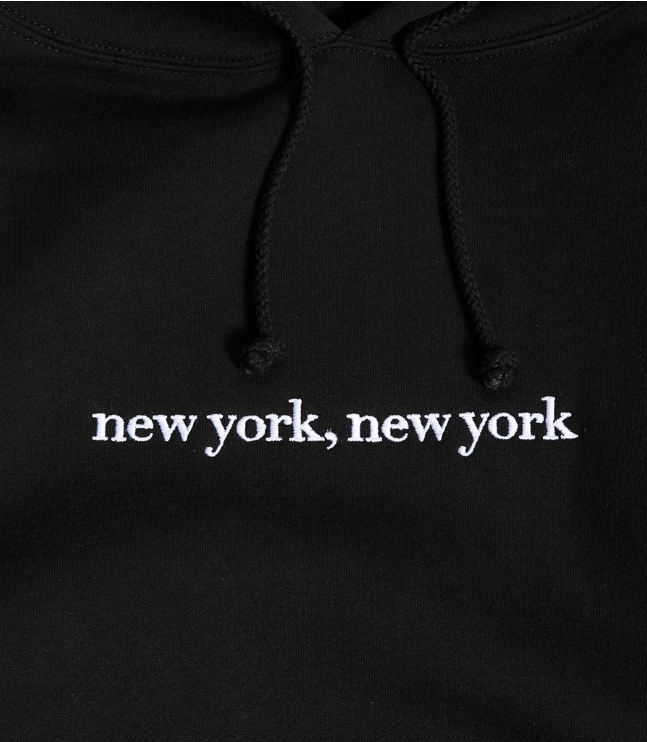 Image of Embroidered NYNY Hoody Black
