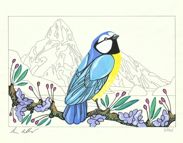 Image of Blue Tit and Helena
