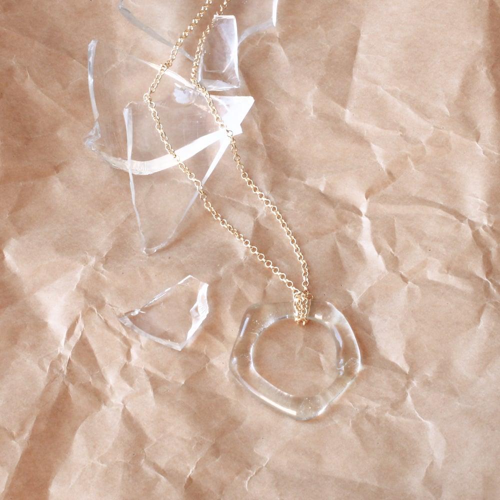 Image of Collier argent doré- CIRCULAIRE