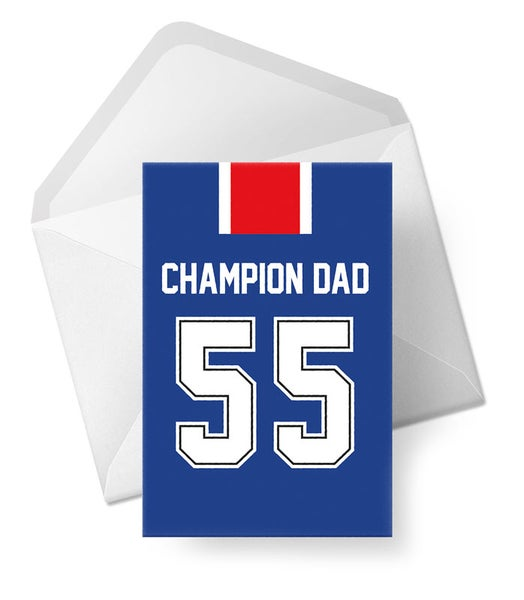Image of Father's Day Card - Champion Dad - 55 Titles!