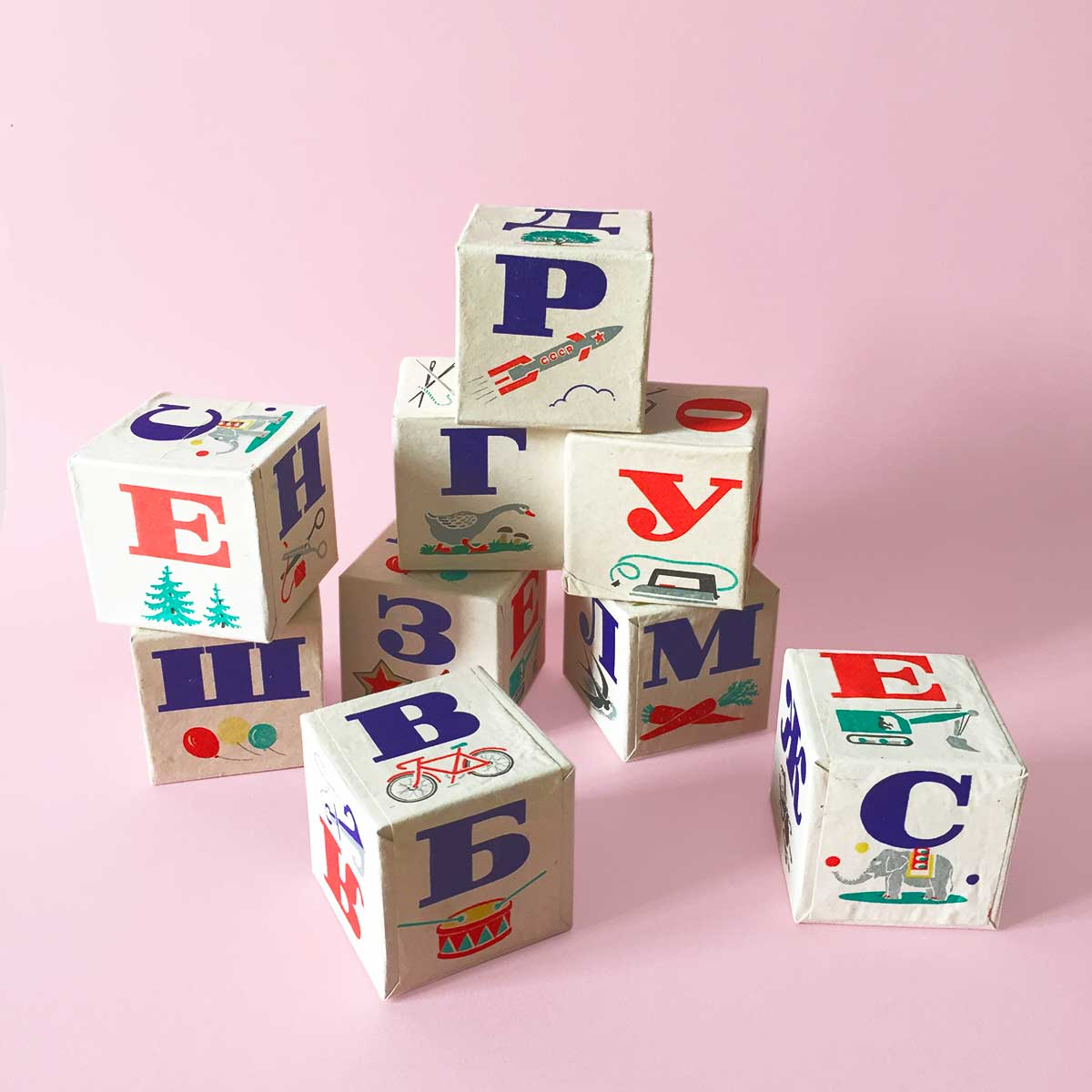 Image of Cube alphabet russe