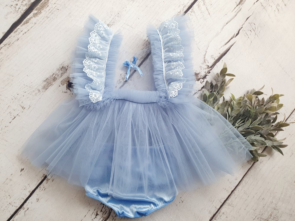 Image of Beautiful pale blue sitter dress. Ready to post